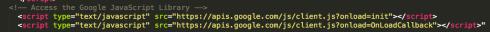 Import Google APIs